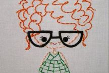 Embroideried people