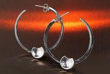 Pendientes de plata / Pendientes de plata artesanos. Alex Redondo