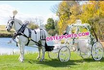 #Cinderella #wedding #Horse #Drawn #Carriages #DSTEXPORTS / we are manufacturing and exporting all types o wedding decorations.