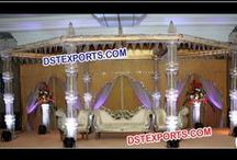 #Wedding #Crystal #Mandaps #Dstexports / We are manufacturing and exporter for all type of wedding decorations.