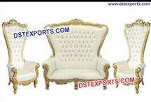 #Wedding #Wooden #Metal #Carved #Furniture #DSTEXPORTS / We are manufacturing and exporting for all type of wedding decoration.