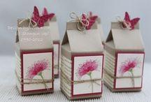 Boîtes Originales / insparation  décoration fait main et boites  pour offrir !!