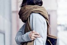 Scarf styling / play with different looks. add layers to your outfit. stay cozy.