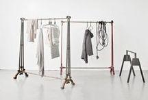 Clothing rack + display / clean. simple. minimalist.
