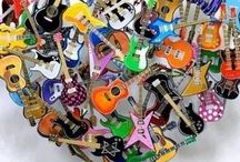 Guitars: Excuse Me While I Kiss the Sky / Guitars & instrument Photos, Decoration & Cakes / by Su Stuart