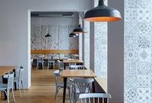 Cafe / Our favourite Cafe Interior looks, as well as some of our own Coffee tables, side tables, lounge chairs and sofas ideal for use in these areas. See more products and get in touch using the link below:  http://jarrettfurniture.co.uk/
