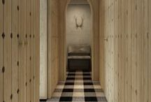 korytarz / korytarz , wieszaki , detale , podłoga , konsole