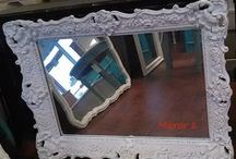 My Shabby Chic Mirrors / This is the collection of mirrors I have painted in the past.