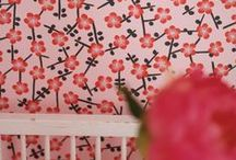 Pink / Living / Interior / Design / Furniture / Fabrics / Textiles / Wallpaper / Curtains