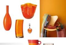 Orange / Living / Interior / Design / Furniture / Fabrics / Textiles / Wallpaper / Curtains