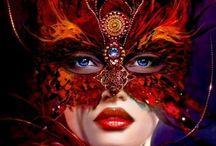 Derrière mon Loup, je fais ce qu'il me plaît... / Magnifiques demi-masques