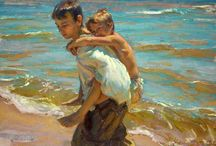 Daniel F. Gerhartz / Daniel Gerhartz was born in Wisconsin in 1965 where he now lives with his wife Jennifer and their three young children. His interest in art piqued at an early age when a teenage friend suggested they spend one dreary afternoon drawing.