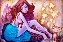 Jeremiah Kettner / Jeremiah Ketner's paintings are instantly recognizable amongst his contemporaries in the pop surrealism movement. His early work, characterized by mischievous sprites and whimsical patterns, has evolved into lush, richly colored environments inhabited by a cast of pensive, dreamy young women. Each character presents a unique brand of beauty, created entirely within Jeremiah's imagination and painted completely from memory.