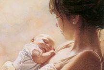 Maman je t'aime / Je dédie ce tableau à ma maman que j'aime ainsi qu'à toutes les mamans du monde