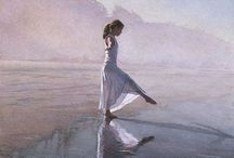 Steve Hanks / Steve Hanks is recognized as one of the best watercolor artists working today. The detail, color and realism of Steve Hanks' paintings are unheard of in this difficult medium. A softly worn patterned quilt, the play of light on the thin veil of surf on sand, or the delicate expression of a child—-Steve Hanks captures these patterns of life better than anyone. En savoir plus sur http://www.rivagedeboheme.fr/pages/arts/peinture-20-21e-siecles/steve-hanks.html#DcfLJuBsSCGJI3vf.99