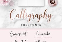Fonts / Free fonts, fonts for commercial use, freebies, script, calligraphy, brush script, modern, feminine, wedding, fonts to download, ultimate free fonts collection