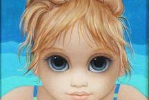 Margaret Keane / Mother of big eyes paintings