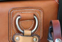 Leather wallet ,bag and leather pouch