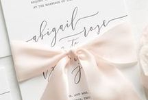 Stationery + Invitations / Stationery design, invitations, wedding, events, designs