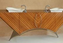 Wood Veneer in Bathrooms / by Oakwood Veneer