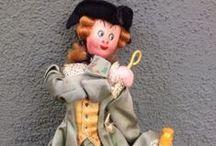 Vintage 1950's Klumpe / Roldan Dolls - Tourist