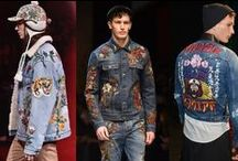 TREND ALERT 15: EMBROIDERY & PATCHES & VINTAGE REPAIR / The trend for fun, youthful patches and embroidery rolls over from last year and dominates the season now. Manipulated jean & vintage repair look is not going anywhere either.