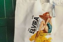 PIN UP / Cotton and juta bags  with pin up girl
