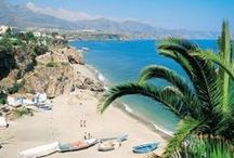 Costa del sol, Spain / All the towns, villages and cities in beautiful Andalucia and the beaches on the Spanish coast of Costa Del Sol. Malaga, Marbella, Mijas, Benelmadena, Torrevieja, Nerja...