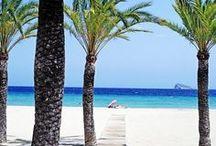 Costa blanca, Spain / The beaches and towns along the lovely Costa Blanca. Javea, Vilanueva, Altea, Alicante, Benidorm...
