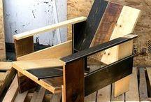 Pallet. 05/8, Sillones / Construcción de sillones con madera reciclada de pallets y otras  / by Francisco de Javier