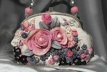 ♥ Felt : bags ♥ / art textile / fiber art