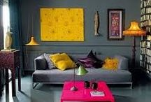 // A SPLASH OF COLOUR! // / Ever wondered how to wake up the interiors of a room that may be looking a litttle dull or may have lost the character it once oozed? Well, a splash of colour is the way to rejuvenate that room, bringing it back to life in a fun but sophisticated way!