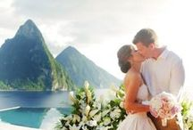 St. Lucia Destination Wedding / How do you fit mountains, sulfur springs, a rainforest and a volcano on an island only twenty-seven miles wide? Ask St. Lucia.  Contact a Wedding Concierge to stop dreaming + start planning today at www.weddingsbyfunjet.com.