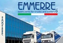 EMMERRE SPARE PARTS FOR TRUCKS AND TRAILERS / Emmerre is producing and distributing mechanical spare parts  more than 30 years.  Its production is dedicated to commercial, industrial vehicles and trailers adaptable to the most important European vehicles such as: Daf, Iveco, Man, Mercedes, Nissan, Renault, Scania, Volvo, Bpw, Ror, Saf, etc……