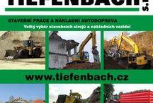 TIEFENBACH s.r.o. - stavební práce a nákladní autodoprava / Stavební práce a nákladní autodoprava. Velký výběr stavebních strojů a nákladních vozidel.