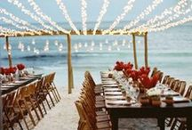 Destination Wedding Receptions / Innovative, chic, glamorous, boho, vintage... there are so many ways to make your destination wedding reception distinctly yours, and we can help!  Contact us at weddingsbyfunjet.com to plan your dream destination wedding.