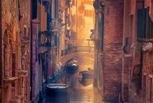 Venice, Italy / Sinking city of contradictions. It's eternal, yet disappearing.  A melancholic shifting metaphor for the human condition. One of my favorite places.