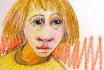 """Titeface/littleface De ÖMiserany®© / My work  mon travail #ÖMiserany® #ARTISTE #art #ManonMiserany© expressionniste ludique créatrice de dessin, peinture, sanguine mixte, #Littleface #Titeface /#1001littleface  #1001titeface """" sur www.omiserany.com"""