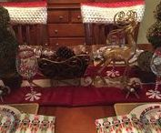 Christmas Tablescape / By Rose's Drapery Designs  www.rosesdraperydesigns.com