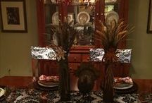 Thanksgiving Tablescape / By Rose's Drapery Designs  www.rosesdraperydesigns.com