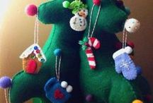 Felt Christmas Crafts / Felt and Christmas - Made for each other