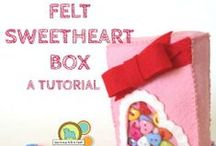 Felt Valentines Day / Felty love abound. Felt Valentine's day projects.