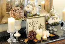 Fall Decorating / Decorating for Fall, and Autumn including Halloween and Thanksgiving, Seasonal changes to to make your home welcoming. Fall decor, Autumn, fall, harvest style, Halloween, Thanksgiving