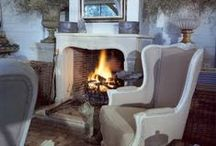 Fireplace / I love fireplaces, they are a must have in my opinion. Nothing compares to having a fire in the fireplace on a chilly day.
