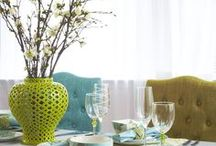 Spring Time Decorating / Seasonal Spring Decorating, fresh flowering branches brought indoors, white candles and sparkling surfaces, lighten things up, open those windows and let Spring in.