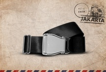 Black Jakarta - Fly-Belts aicraft seat belts redesigned as fashion accessories / Designed by and for international travelers, Fly-Belts are adapted airplane seat belts recast to fit all types of pants and jeans. Express & share your frequent flyer experience with this original travelwear.  - Color : Black Jakarta - One way pack : 1 buckle + 1 belt - 2 available sizes for buckle thickness and belt's webbing width - Original (48mm) and Slim (38mm) - One length fits all - Airline resistant webbing. Aluminium buckle