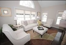Interior Home Design -Essex Living / Living Rooms, Sunrooms and lower levels of the home that Essex Homes of WNY built over the years.
