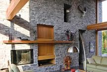 StoneRox Interiors Gallery / Images of our Thin Stone Veneer being utilized in the interiors of homes.