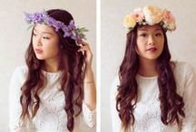 Rose Tinted Flower Crowns / Beautiful hand crafted silk flower crowns by Maree Worrall-Bader of Rose Tinted.