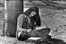 Going Study / Photographs of students studying around campus throughout the years at Hofstra.